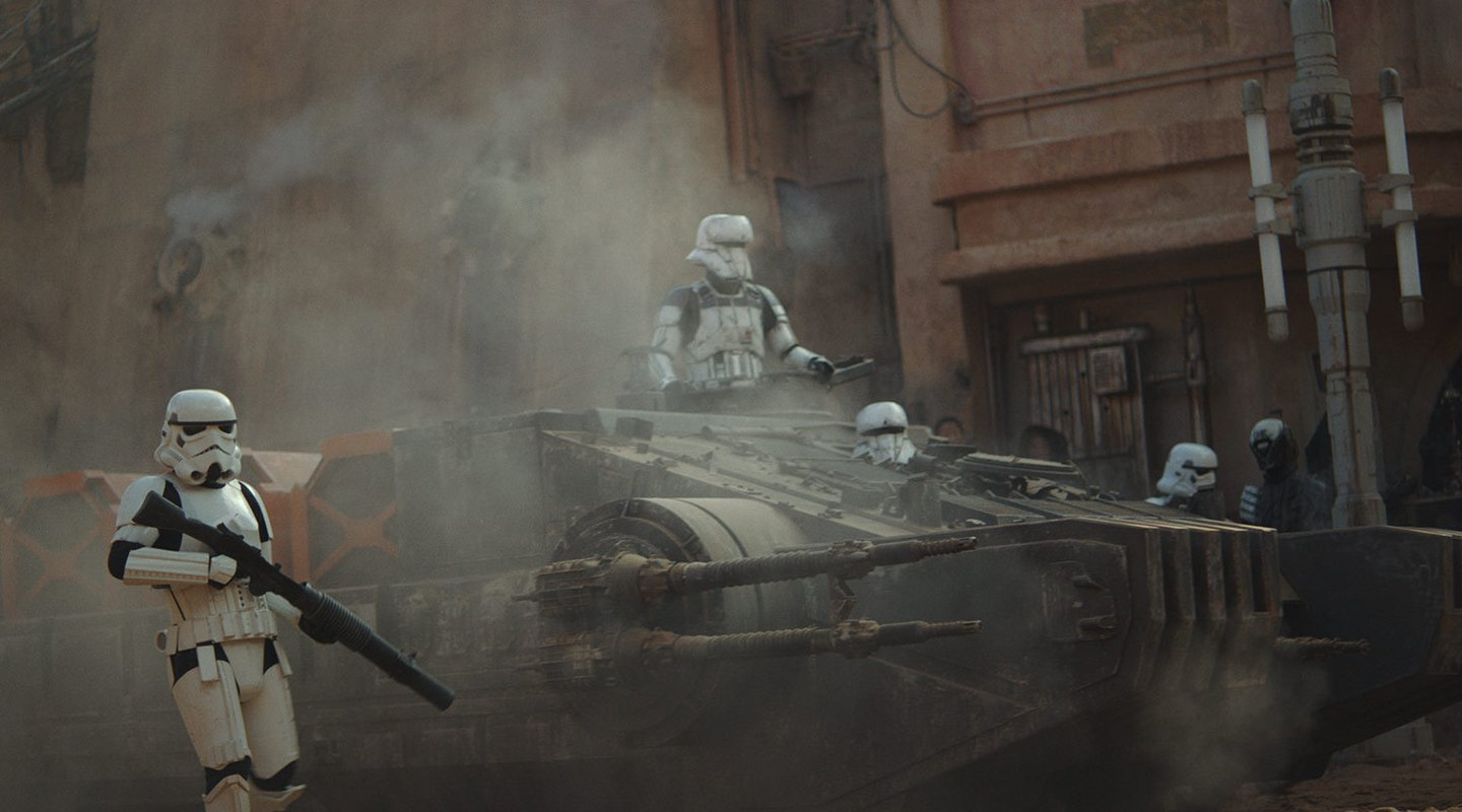 Tank trooper on Jedha.