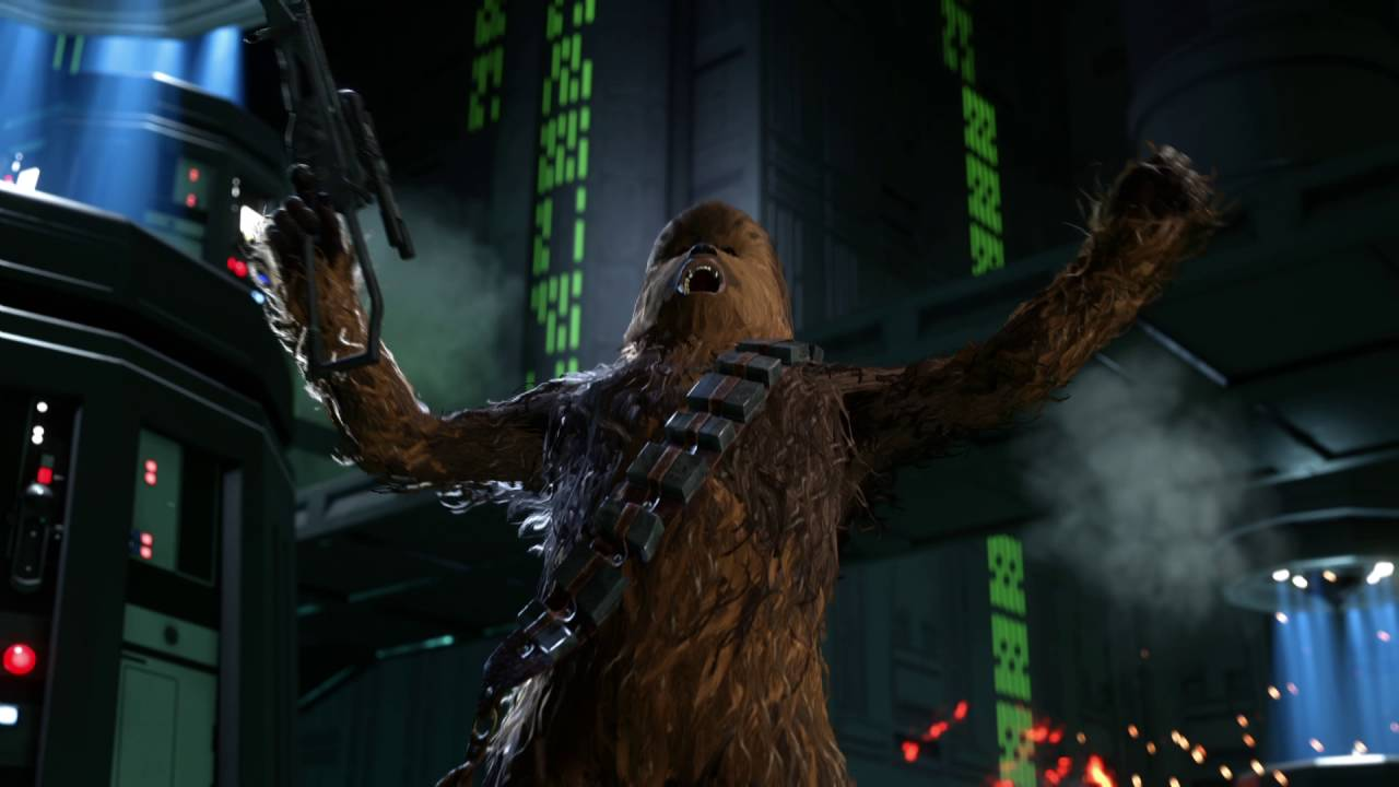 Chewbacca's fur in Battlefront's latest trailer.