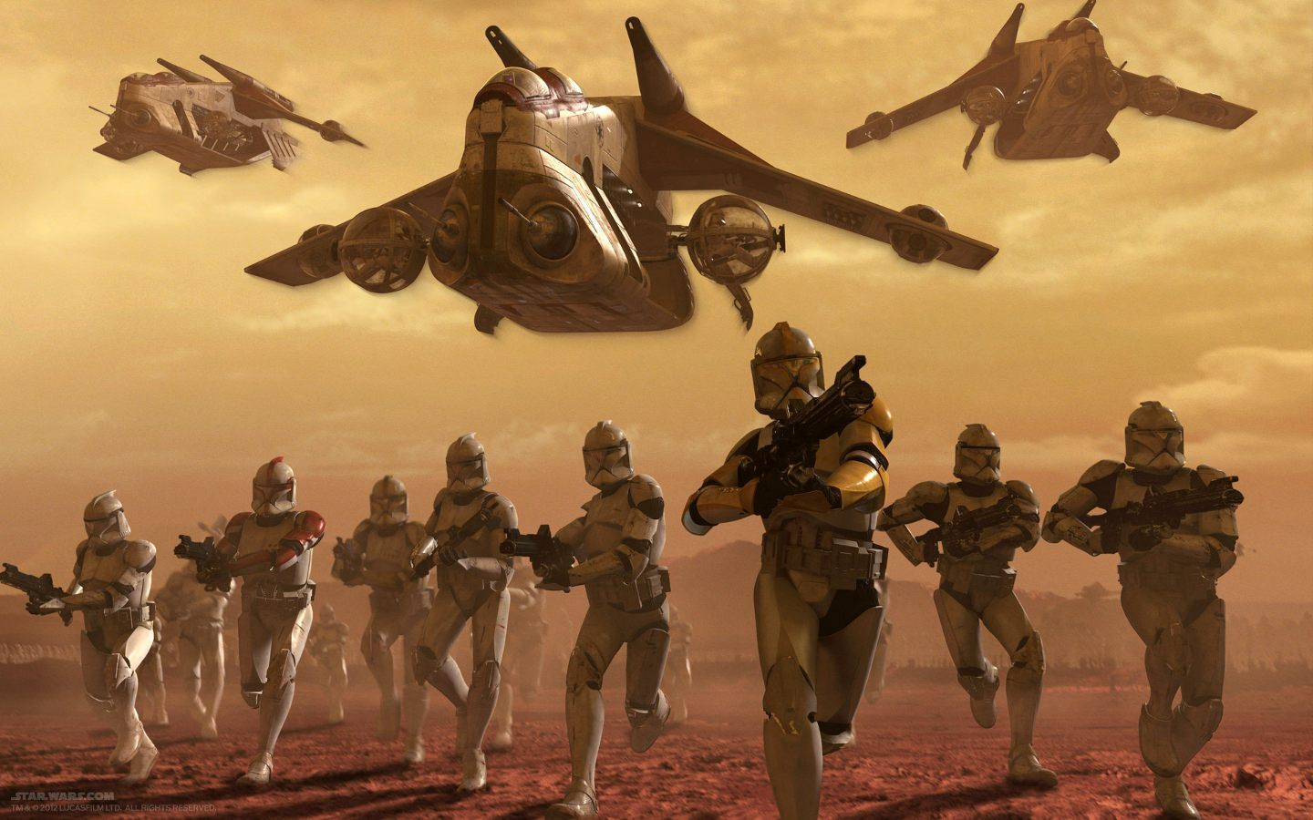 Battle on Geonosis.