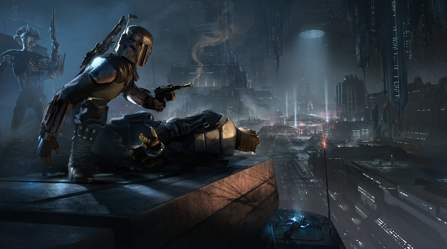 Boba Fett in concept art for Star Wars 1313.