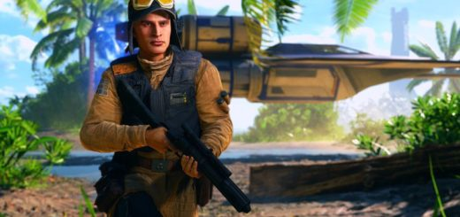Rebel trooper on Scarif in Battlefront. Image by Cinematic Captures.