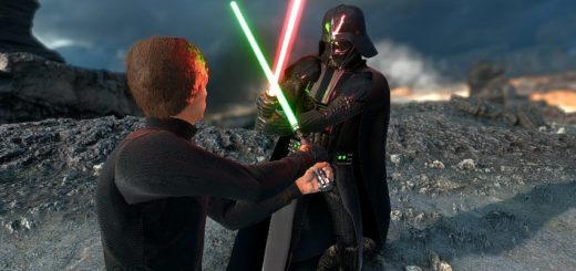 Vader versus Luke in Battlefront. Image by Cinematic Captures.