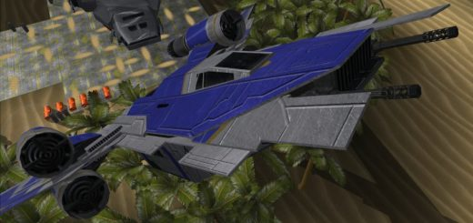 A U-wing from a Rogue One Scarif Battlefront II mod.