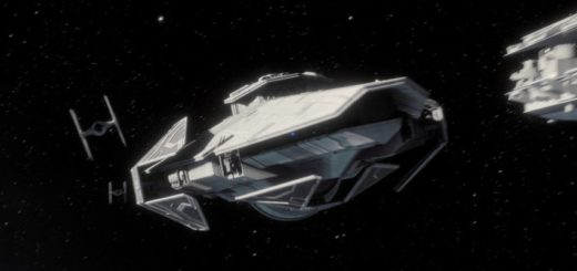 The Imperial Raider-class corvette Corvus in Battlefront II.