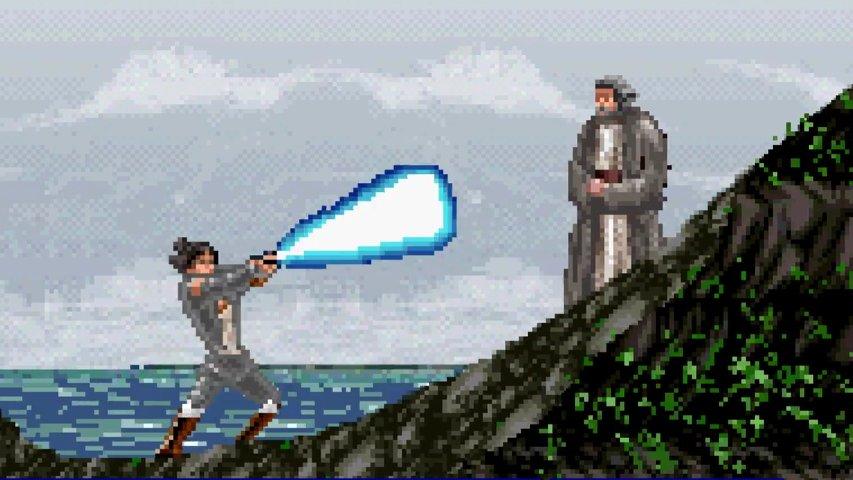 8-bit version of The Last Jedi trailer.
