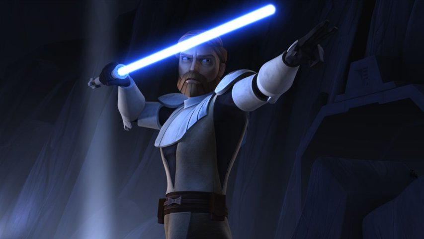 Obi-Wan Kenobi in The Clone Wars TV show.