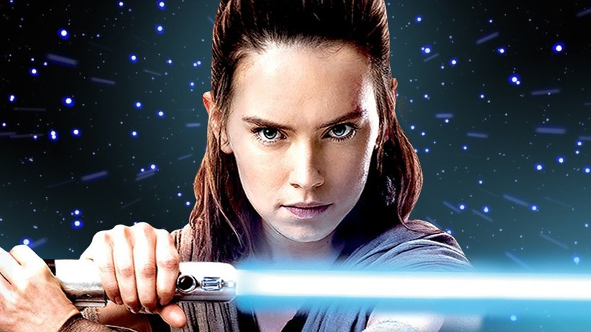 Rey from The Last Jedi promo art.