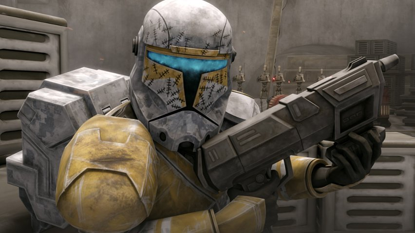 Clone commando Gregor from The Clone Wars TV show.