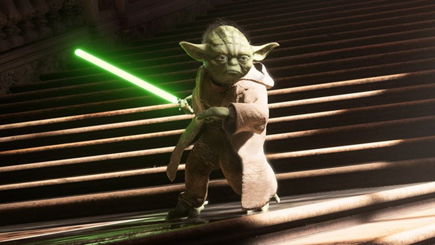 Yoda in the Battlefront II promo image.