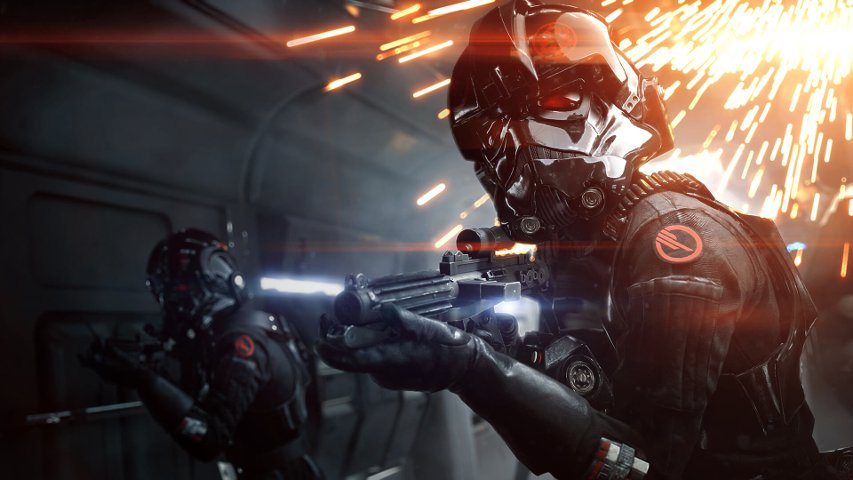Promo image of the Inferno Squad in Battlefront II.